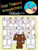 Editable Newsletters: Dog Themed
