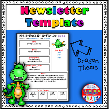 Newsletter Template Editable Dragons