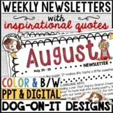 Weekly Newsletter Template EDITABLE Freebie