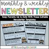 Newsletter Template Editable Weekly