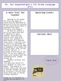 Newsletter Template- Editable