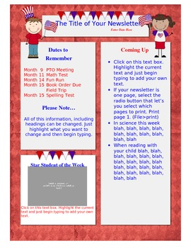 Newsletter Template - Election Theme