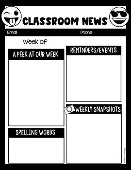 Emoji Decor Newsletter Template EDITABLE