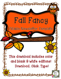 Newsletter Template (Fillable) - Fall Fancy