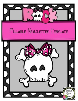 Newsletter Template (Fillable) - Rock On!