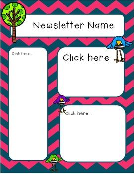 Newsletter Template (Fillable) - Tweet!