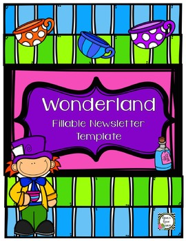 Newsletter Template (Fillable) - Wonderland