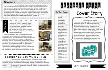 Newsletter Template For Students and Teachers - Fully Editable in 2 Sizes!