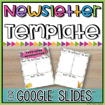Editable Newsletter Template in Google Slides™