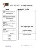 Newsletter Template K-8