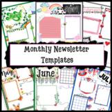 Newsletter Template August Newsletter Back to School Summer Fall