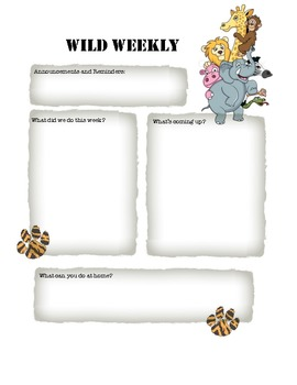 Newsletter Template Pack: Ice Cream, Animals, Dr. Suess