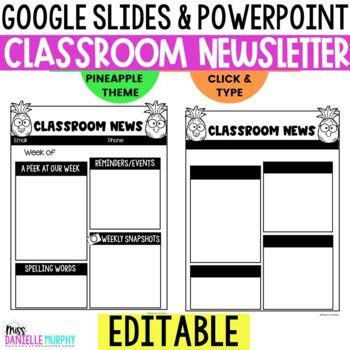 grade level newsletter template teaching resources teachers pay