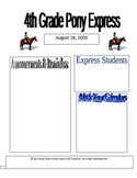 Newsletter Template- Pony Express