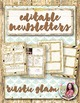 Newsletter Template {Rustic Farmhouse Glam FREE January Template}