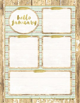 Newsletter Template {Rustic Glam FREE January Template}