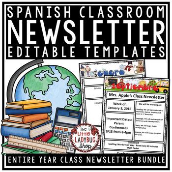 Spanish Newsletter Templates Editable