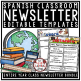 Spanish Newsletter Classroom Monthly & Weekly Newsletter T