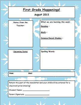 Newsletter Template - Seasonal Backgrounds