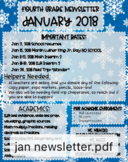 Newsletter Template Snowflakes
