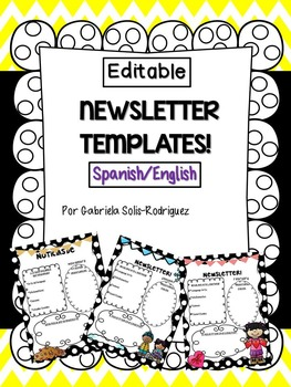 Newsletter Template! Spanish/English