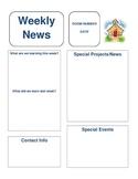 Newsletter Template - Upper Elementary