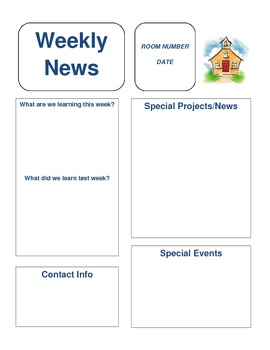 newsletter template upper elementary by christine sowers tpt