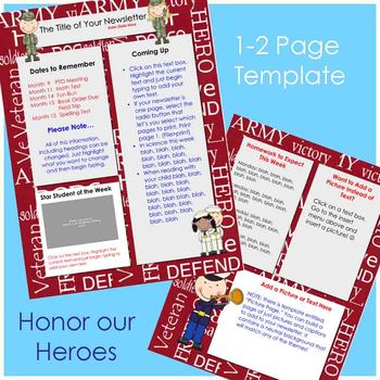 Newsletter Template - Veteran Remembrance Theme