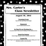 Newsletter Template- White on Black Stars