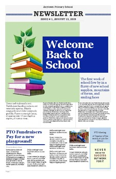 Newsletter Template for School or Classroom Editable PDF