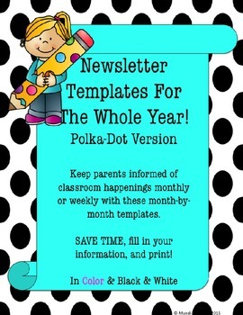 Newsletter Template for Year (polkadot version)