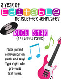 Editable Newsletter Templates (12 included): Rock Star Theme