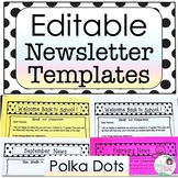 Newsletter Template - Polka Dots