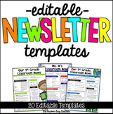 Editable Newsletter Templates for Distance Learning