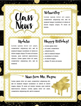 Newsletter Templates {Chic & Glam Editable Music Templates}