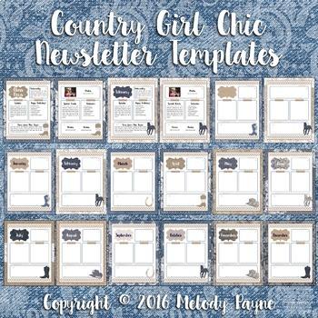 Newsletter Templates {Denim, Lace, & Burlap}