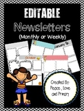 Newsletter Templates - EDITABLE!