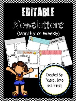 Newsletter Templates - EDITABLE!