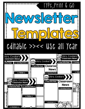 Newsletter Templates ** EDITABLE**