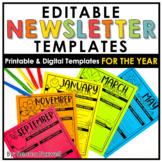 Newsletter Templates - EDITABLE   Printable   Digital   Di