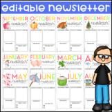 Newsletter Templates | EDITABLE | Printable | Digital | Wa