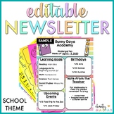 Distance Learning - Newsletter Templates EDITABLE - School