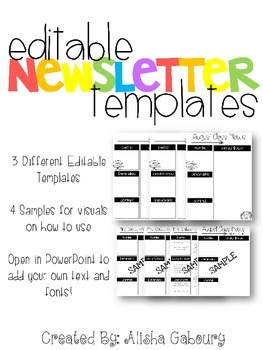 Newsletter Templates Packet [Editable]