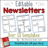 Black and White Newsletter Templates Editable