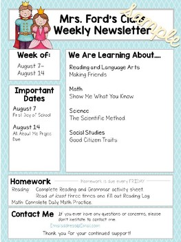 Newsletter Templates: Fairy Tale Edition