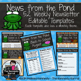 Editable Newsletter Template: Frogs