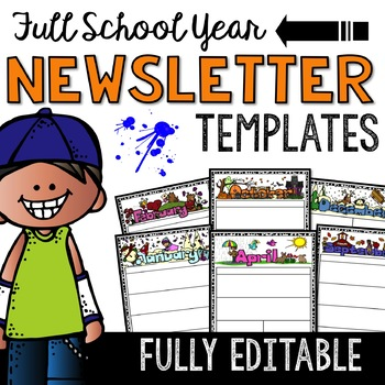 Newsletter Templates: Full Year of Editable Templates