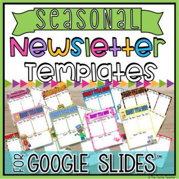 Newsletter Templates: Google Slides BUNDLE