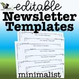 Editable Newsletter Templates - Minimalist