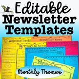 Editable Newsletter Templates - Monthly Themes